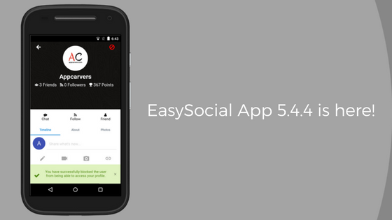 EasySocial-App-5.4.4-is-here