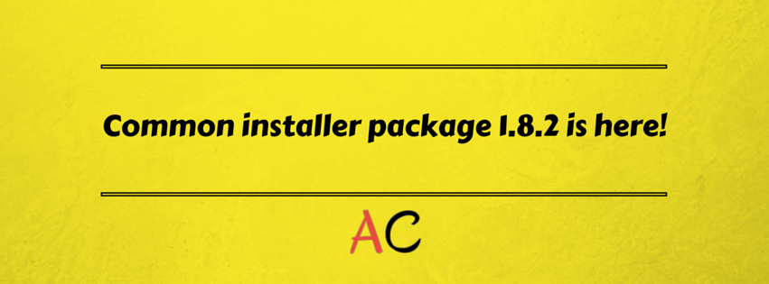 Common installer package 1.8.2 released!
