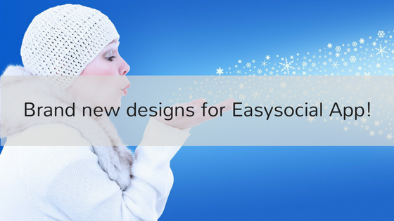 Brand new designs for Easysocial App!