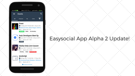 Update on the Brand new Easysocial App Alpha 2 based on Unite !