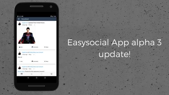 Easysocial app alpha 3 is here!