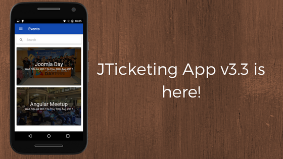 JTicketing Events Manager App v3.3 is here!