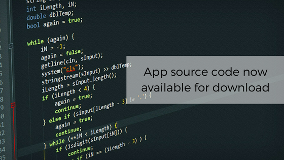App Source code now available for download to subscribers !
