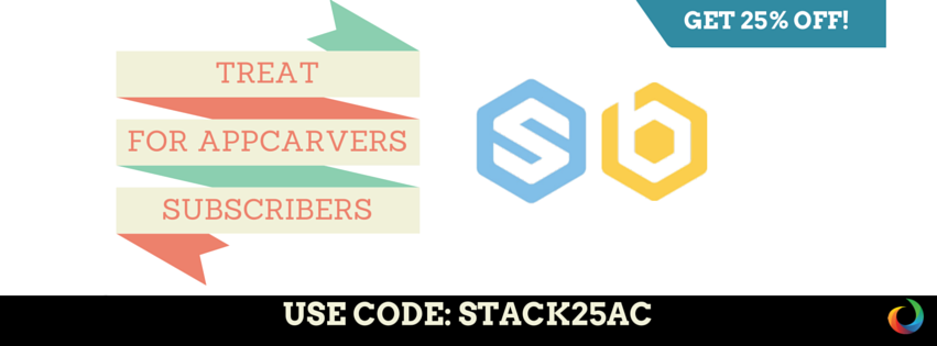 Stackideas offers exclusive discounts for AppCarvers subscribers!