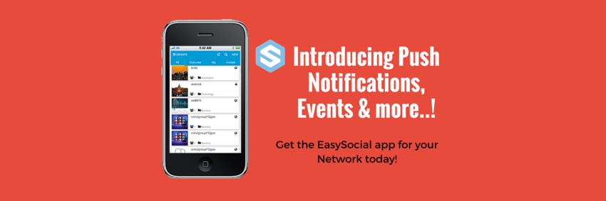 Version 5 Introduces Push Notifications and Events in EasySocial App!