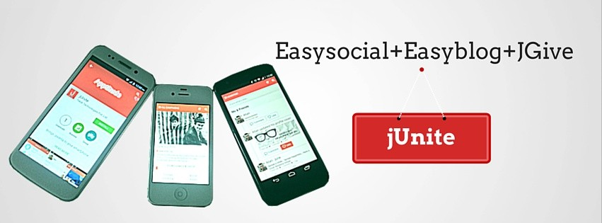 EasySocial, Easyblog, JGive all in one with JUnite!